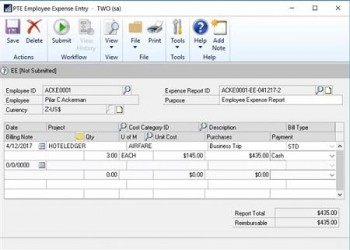 New Project Time and Expense Features for Microsoft Dynamics GP 2016
