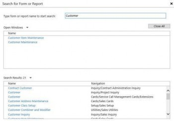 New Web Client Search Coming to Microsoft Dynamics GP 2016
