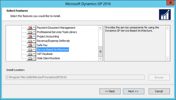 Installing the New Service Based Architecture for Microsoft Dynamics GP 2016