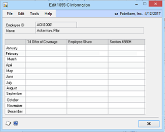 Problems Printing 1095-C Forms With Microsoft Dynamics GP