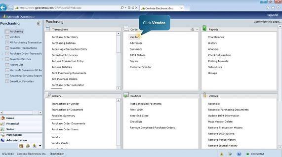 Simplify Vendor Setup and Management With Microsoft Dynamics GP