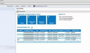 Using Requisition and Purchase Order Processing Workflows for Microsoft Dynamics GP Part 3