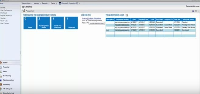 Using Requisition and Purchase Order Processing Workflows for Microsoft Dynamics GP