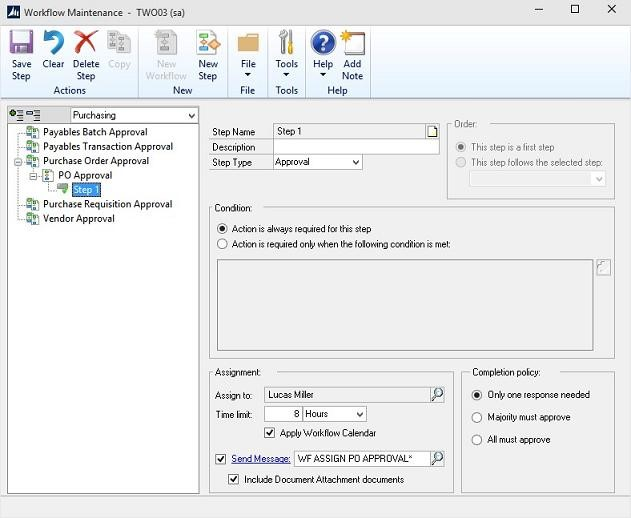 Using Workflows 2.0 In Microsoft Dynamics GP 2015 Part 4
