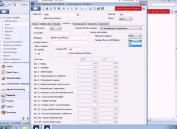 1099 Vendor Backup Withholdings Feature in Microsoft Dynamics SL 2015