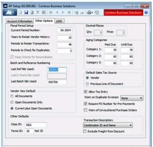 How to Set Up the Accounts Payable Module in Microsoft Dynamics SL