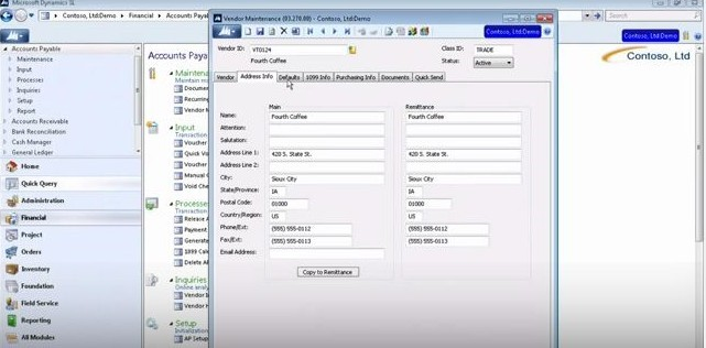 How to Set Up the Accounts Payable Module in Microsoft Dynamics SL: Vendor Maintenance