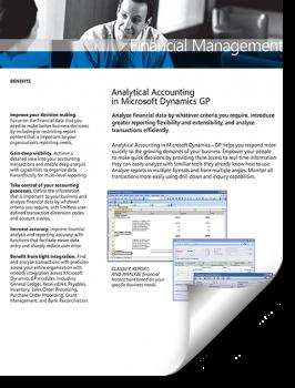 Dynamics GP Financial Accounting