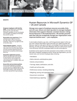 Dynamics GP Human Resources Management