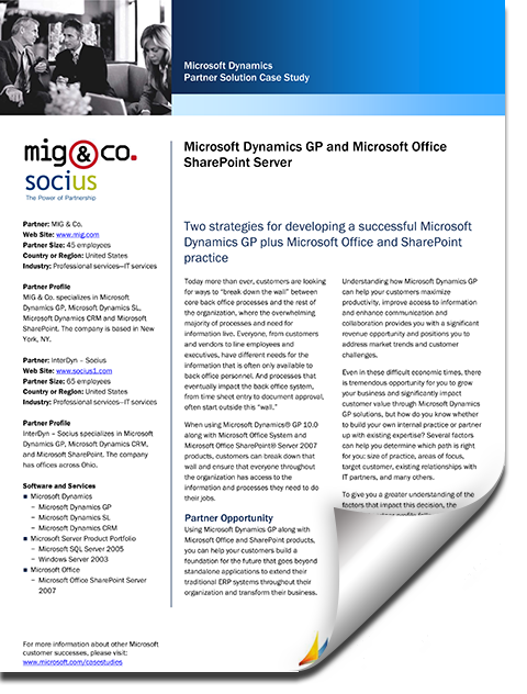 microsoft case studies sharepoint Sharepoint to the cloud: learn how microsoft ran its own migration technical case study.