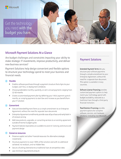 Dynamics Payment Solutions Factsheet