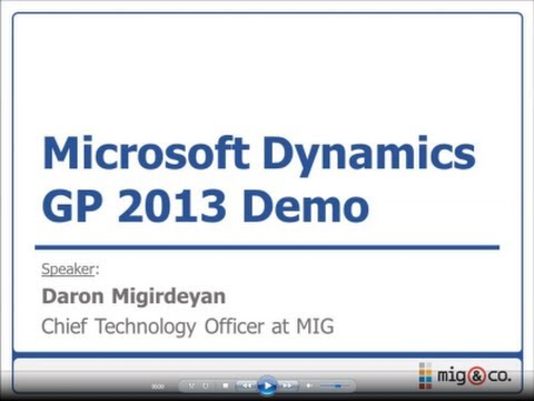 microsoft dynamics gp tutorial pdf