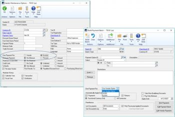 Dynamics GP 2018 one payment per invoice